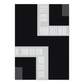 """Your Text Here"" Black/Grey Color Corner (MB) Card"