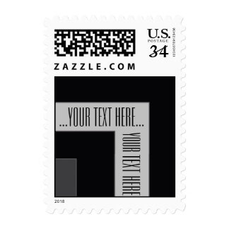 """Your Text Here"" Black/Grey Color Corner (MB) Stamp"