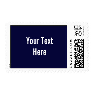 Your Text Here Custom Navy Blue Postage Stamps