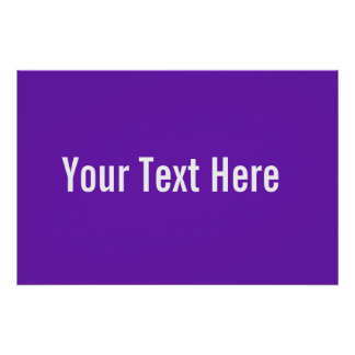 Your Text Here Custom Purple Horizontal Poster