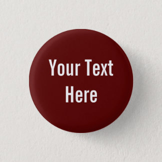 Your Text Here Custom Solid Red Background Button