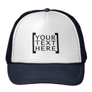 your text here funny advertise humor joke computer trucker hat
