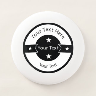 Your Text Here Logo Template Black and White Star Wham-O Frisbee