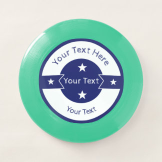 Your Text Here Logo Template Blue and White Star Wham-O Frisbee