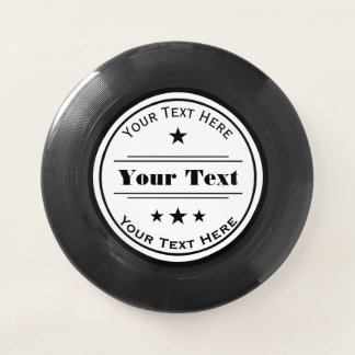 Your Text Here Logo Template with Stars Wham-O Frisbee