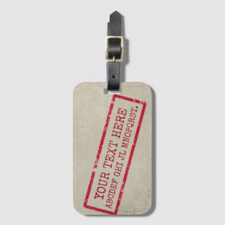 your text here (name or any other word) luggage tag
