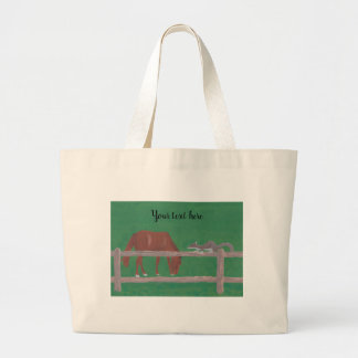 Your text here on Horse and Squirrel Tote Bags