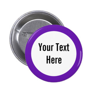 Your Text Here Purple Border Custom Button