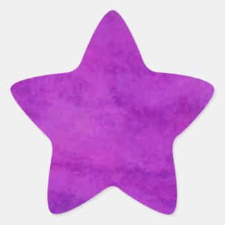 Your text here Purple Wash Background Star Sticker