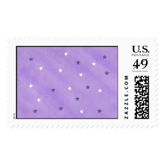 Your text here purple & white stars postage stamps
