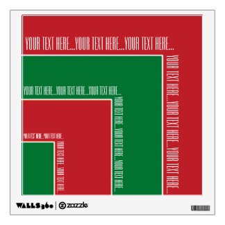 """Your Text Here"" Red/Green Color Corner (MB) Wall Sticker"