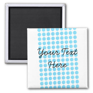 Your Text Here Template Square Magnet