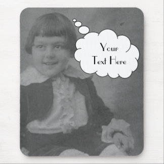 Your Text Here (thought bubble) Mouse Pad