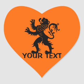 Your Text - Holland Lion Heart Sticker