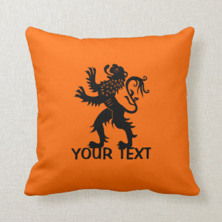Your Text - Holland Lion Throw Pillow