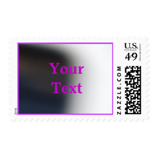 Your Text In Violet Postage
