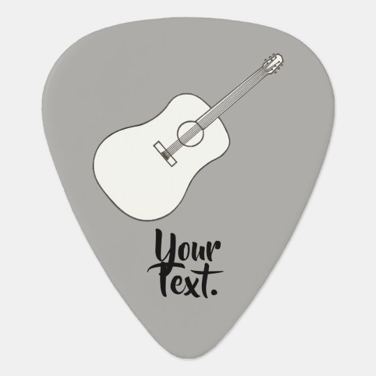 Your Text on Acoustic Guitar Drawing Guitar Picks Zazzlecom