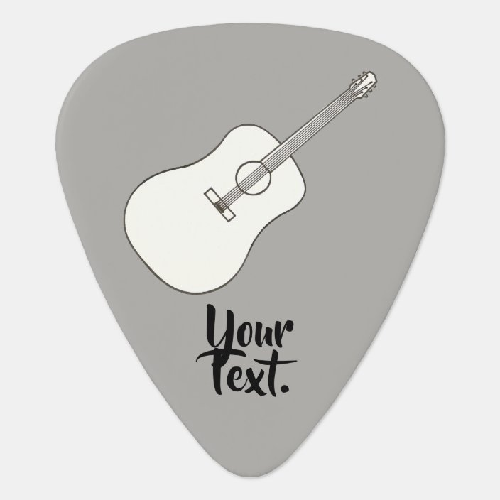 Your Text On Acoustic Guitar Drawing Guitar Picks Zazzle Com