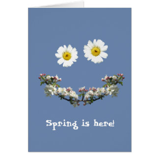 YOUR TEXT or 'Spring is here!' Card
