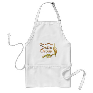 your the devil in disguise adult apron