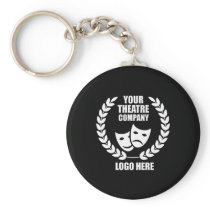 Your Theatre Company Logo Black or Choose Color Keychain