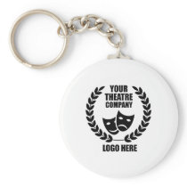 Your Theatre Company Logo White or Choose Color Keychain