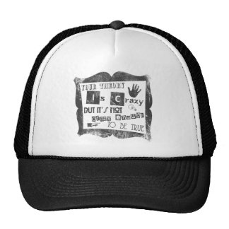 your theory is crazy.png trucker hat