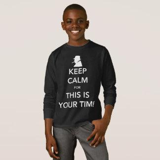 Your Time Boy's Dark Long Sleeve T-Shirt