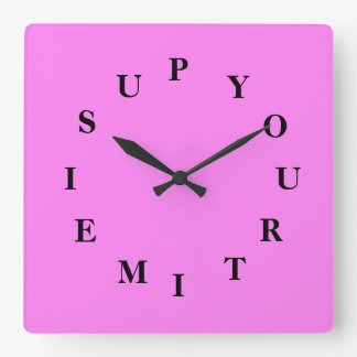 Your Time Is Up Violet Wall Clock by Janz