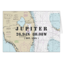 YOUR TOWN Florida Nautical Chart Boater's Card