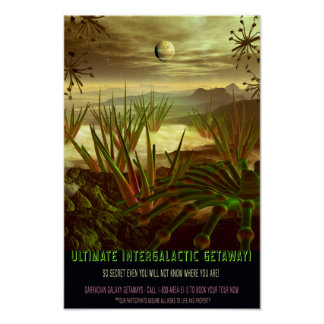 Your Ultimate Intergalactic Getaway Travel Poster