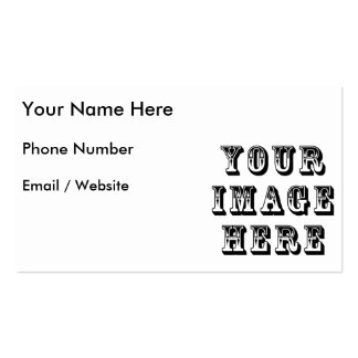 Your Vacation Picture on Business Card