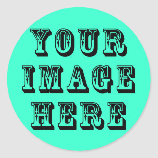 Your Vacation Picture on Classic Round Sticker