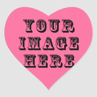 Your Vacation Picture on Heart Sticker
