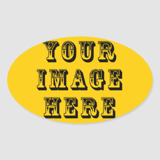 Your Vacation Picture on Oval Sticker