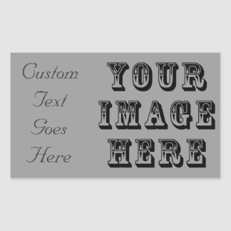 Your Vacation Picture on Rectangular Sticker