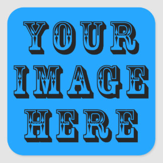 Your Vacation Picture on Square Sticker