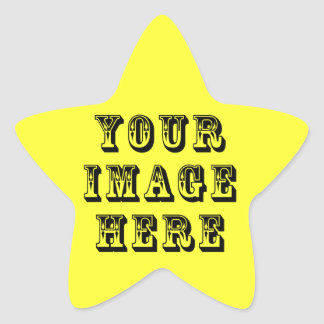 Your Vacation Picture on Star Sticker
