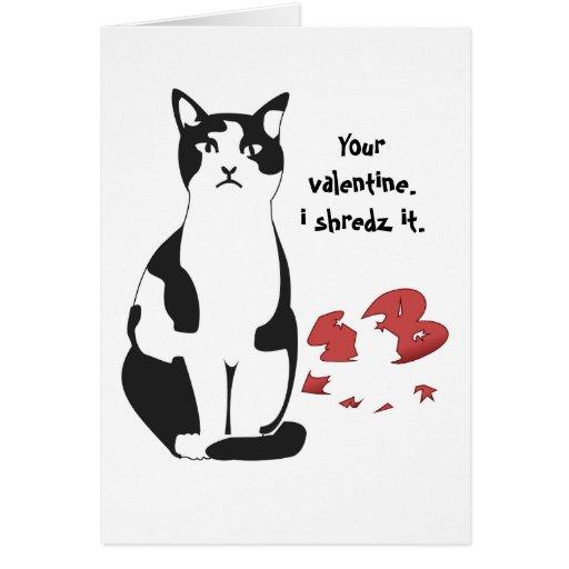 Your Valentine.. I Shredz it. Greeting Card