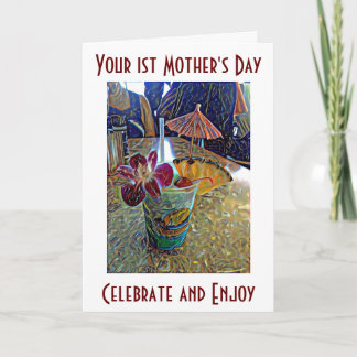 YOUR VERY FIRST **MOTHER'S DAY** CHEERS! CARD
