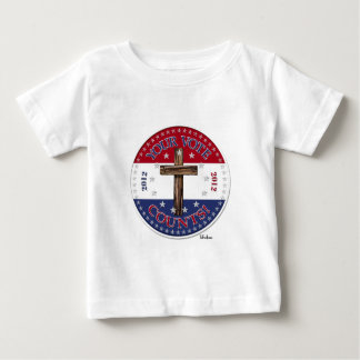 YOUR VOTE COUNTS! 2012 Round with rugged cross Baby T-Shirt