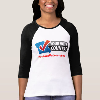 Your Vote Counts baseball t-shirt