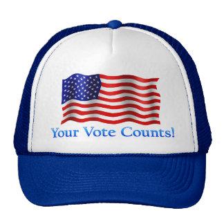 Your Vote Counts - Blue Trucker Hat