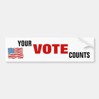Your Vote Counts Car Bumper Sticker