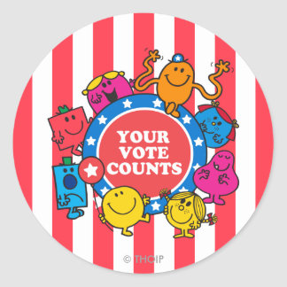 Your Vote Counts! Classic Round Sticker