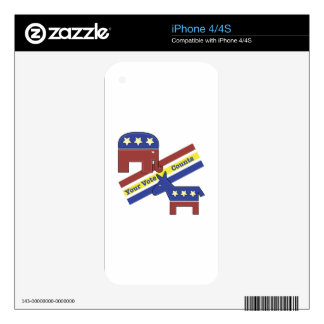 Your Vote Counts Decals For The iPhone 4S