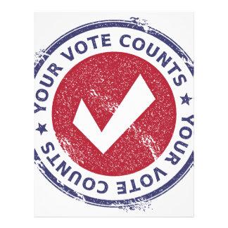 your vote counts letterhead