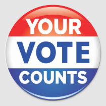Your Vote Counts pattern Classic Round Sticker