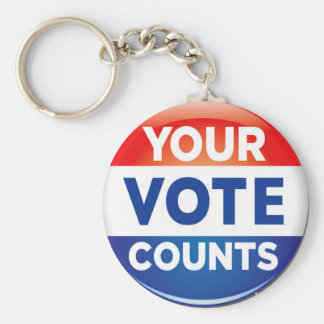Your Vote Counts pattern Keychain