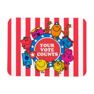 Your Vote Counts! Rectangular Photo Magnet